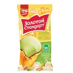 Мороженое ЗОЛОТОЙ СТАНДАРТ пломбир, фисташка, вафельный стаканчик, 86 г