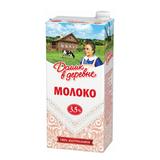 Молоко ДОМИК В ДЕРЕВНЕ, жирность 3,5%, ультрапастеризованное, картонная упаковка, 950 г