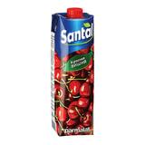 Напиток сокосодержащий SANTAL (Сантал) Red, красная вишня, 1 л, тетра-пак