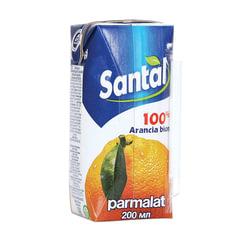 Сок SANTAL (Сантал), апельсиновый, 0,2 л, для детского питания, тетра-пак