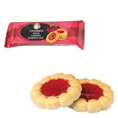 Печенье БИСКОТТИ (Россия) «Santa Bakery», с вишневым мармеладом, сдобное, 100 г