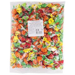Конфеты-карамель «Жили-были», леденцовая, мини, ассорти арбуз/<wbr/>манго/<wbr/>ананас/<wbr/>яблоко,1 кг, пакет