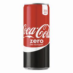 Напиток газированный COCA-COLA (Кока-кола) Zero, 0,33 л, жестяная банка
