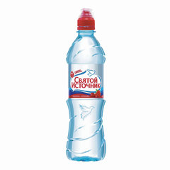 Вода негазированная питьевая СВЯТОЙ ИСТОЧНИК, со вкусом малины, 0,5 л, пластиковая бутылка