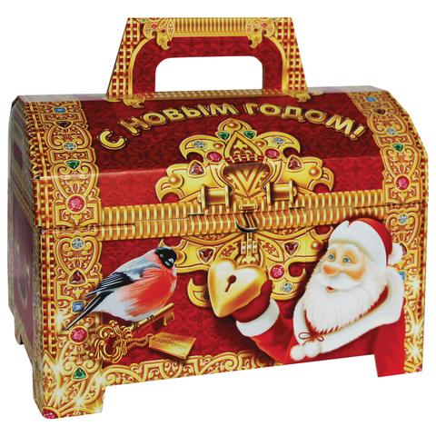 """Подарок новогодний """"Детский сундучок"""", 654 г, набор конфет и пр., ассорти, картонная коробка"""