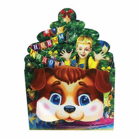 """Подарок новогодний """"Подарок Деда Мороза"""", 1000 г, набор конфет и пр., ассорти, картонная коробка"""