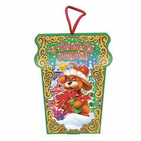 """Подарок новогодний """"Сказочные узоры"""", 300 г, набор конфет и пр., ассорти, картонная коробка"""
