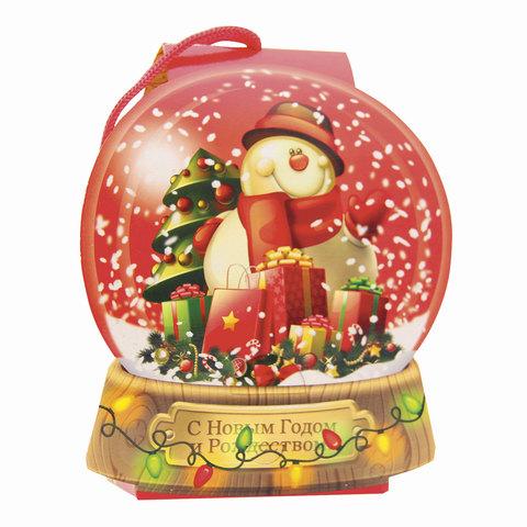 """Подарок новогодний """"Снежный шар"""", 500 г, набор конфет и пр., ассорти, картонная коробка"""