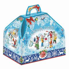 Подарок новогодний «Госпожа — Метелица», 800 г, набор конфет и пр., ассорти, картонная коробка
