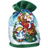Подарок новогодний «С Новым Годом!», 800 г, набор конфет и пр., ассорти, тканый мешок