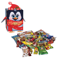 Подарок новогодний «Дружок детей», 550 г, набор конфет и пр., картонная коробка