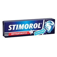 Жевательная резинка STIMOROL ICE (Стиморол) «Мятный мороз», без сахара, 13,6 г
