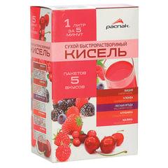 Кисель РАСПАК «Ассорти», 5 вкусов, 150 г (5 пакетиков по 30 г), мягкий пакет