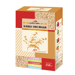 Каша овсяная РАСПАК «Ассорти», 5 вкусов, моментальная варка, 350 г (10 пакетиков по 35 г)