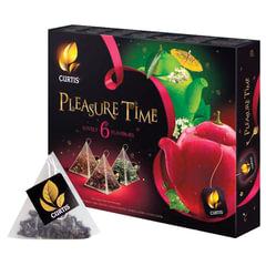 Чай CURTIS (Кёртис) «Pleasure Time», набор 30 пирамидок по 1,5 г, ассорти 6 вкусов