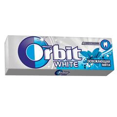 Жевательная резинка ORBIT (Орбит) «Белоснежный», освежающая мята, 10 подушечек, 13,6 г
