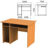 Стол компьютерный «Фея», 1000×700×750 мм, с тумбой, цвет орех милан, СФ05.5