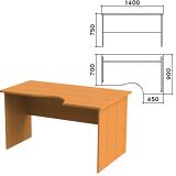 Стол письменный эргономичный «Фея», 1400×900×750 мм, правый, цвет орех милан, СФ08.5