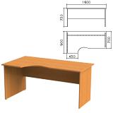 Стол письменный эргономичный «Фея», 1600×900×750 мм, левый, цвет орех милан, СФ09.5
