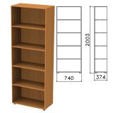 Шкаф (стеллаж) «Фея», 740×370×2000 мм, 4 полки, цвет орех милан, ШФ14.5