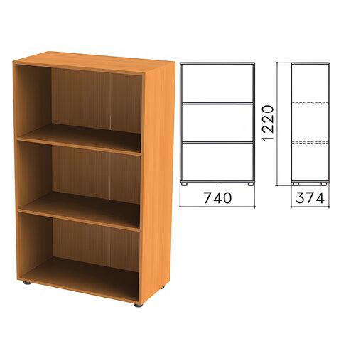 """Шкаф (стеллаж) """"Фея"""", 740х370х1220 мм, 2 полки, цвет орех милан, ШФ13.5"""
