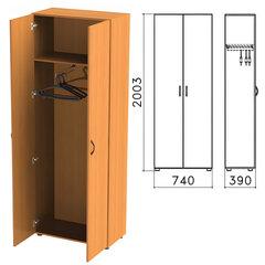 Шкаф для одежды «Фея», 740×390×2000 мм, цвет орех милан, ШФ17.5