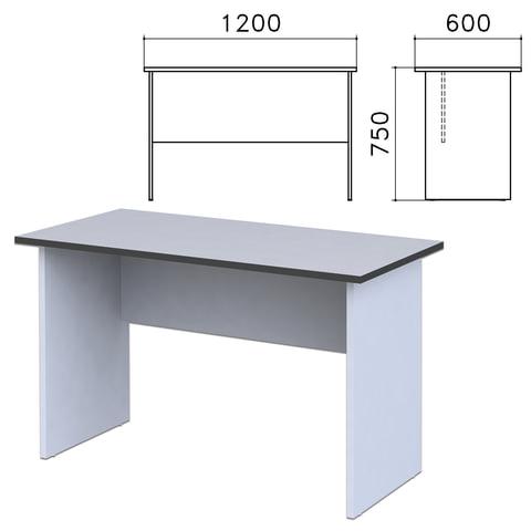 """Стол письменный """"Монолит"""", 1200х600х750 мм, цвет серый, СМ21.11"""