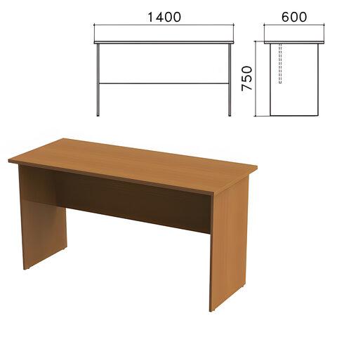 Стол письменный «Монолит», 1400×600×750 мм, цвет орех гварнери, СМ22.3