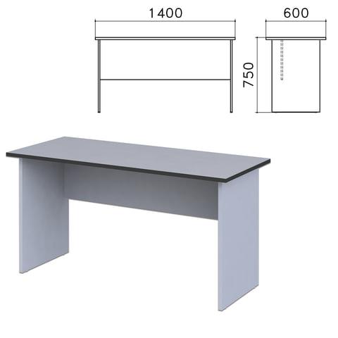 Стол письменный «Монолит», 1400×600×750 мм, цвет серый, СМ22.11