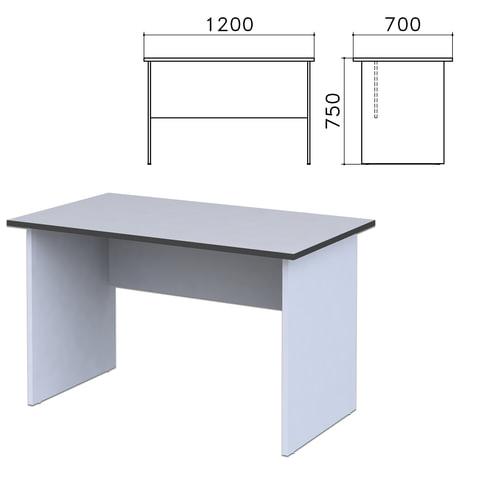 """Стол письменный """"Монолит"""", 1200х700х750 мм, цвет серый, СМ1.11"""