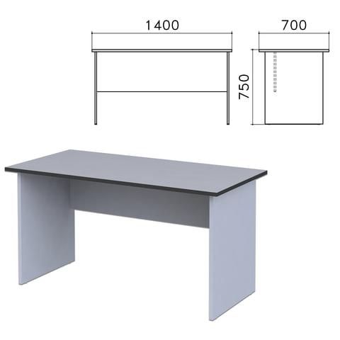 Стол письменный «Монолит», 1400×700×750 мм, цвет серый, СМ2.11
