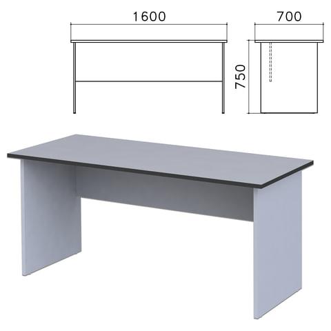 """Стол письменный """"Монолит"""", 1600х700х750 мм, цвет серый, СМ3.11"""