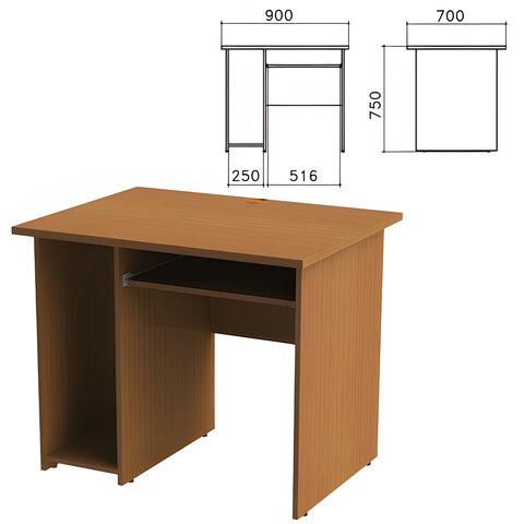 Стол компьютерный «Монолит», 900×700×750 мм, цвет орех гварнери, СМ15.3