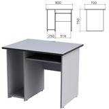 Стол компьютерный «Монолит», 900×700×750 мм, цвет серый, СМ15.11