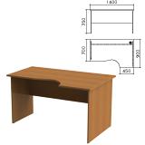 Стол письменный эргономичный «Монолит», 1400×900×750 мм, правый, цвет орех гварнери, СМ4.3
