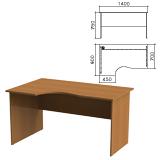 Стол письменный эргономичный «Монолит», 1400×900×750 мм, левый, цвет орех гварнери, СМ5.3