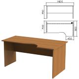 Стол письменный эргономичный «Монолит», 1600×900×750 мм, правый, цвет орех гварнери, СМ6.3