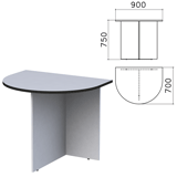 Стол приставной к столу для переговоров (640112) «Монолит», 900×700×750 мм, серый, ПМ19.11