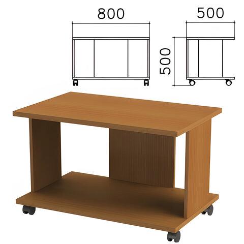 Стол журнальный «Монолит», 800×500×500 мм, цвет орех гварнери, ЖМ02.3