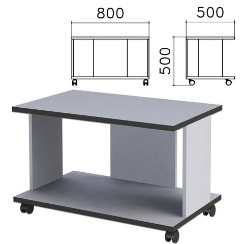 Стол журнальный «Монолит», 800×500×500 мм, цвет серый, ЖМ02.11