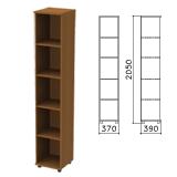 Шкаф (стеллаж) «Монолит», 370×390×2050 мм, 4 полки, цвет орех гварнери