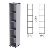 Шкаф (стеллаж) «Монолит», 370×390×2050 мм, 4 полки, цвет серый, КМ45.11