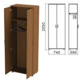 Шкаф для одежды «Монолит», 740×390×2050 мм, цвет орех гварнери, ШМ49.3
