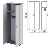 Шкаф для одежды «Монолит», 740×390×2050 мм, цвет серый, ШМ49.11