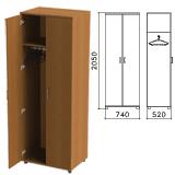Шкаф для одежды «Монолит», 740×520×2050 мм, цвет орех гварнери, ШМ50.3