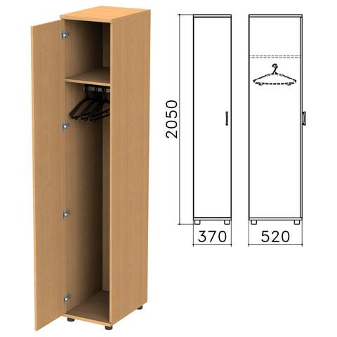 "Шкаф для одежды ""Монолит"", 370х520х2050 мм, цвет бук бавария, ШМ52.1"