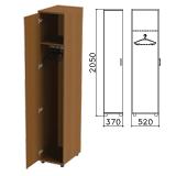 Шкаф для одежды «Монолит», 370×520×2050 мм, цвет орех гварнери, ШМ52.3