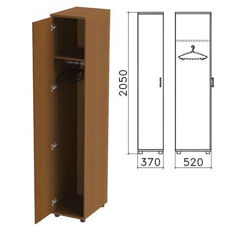 "Шкаф для одежды ""Монолит"", 370х520х2050 мм, цвет орех гварнери, ШМ52.3"