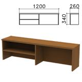 Надстройка для стола письменного «Монолит», 1200×260×340 мм, 1 полка, цвет орех гварнери