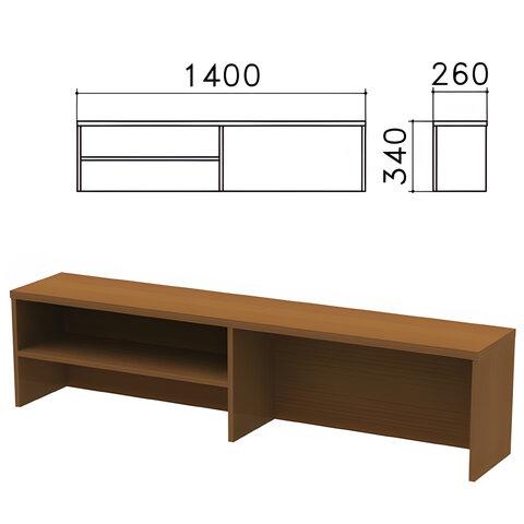 Надстройка для стола письменного «Монолит», 1400×260×340 мм, 1 полка, цвет орех гварнери